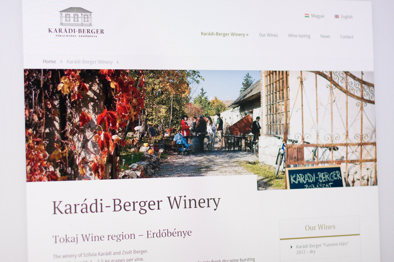 Karádi-Berger Site Redesign 2013